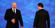 Прэзідэнт Беларусі Аляксандр Лукашэнка і лідэр КНР Сі Цзіньпін
