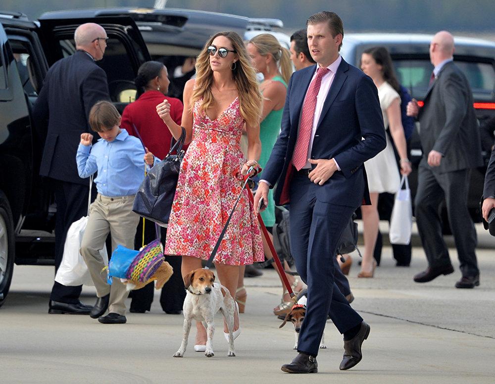 Эрик Трамп и жена Лара