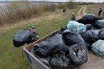 Уборка Петровичского водохранилища - акция Чистый водоем
