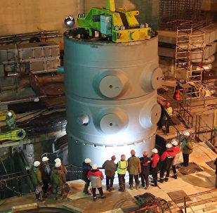 Корпус для первого реактора БелАЭС прибыл на площадку станции