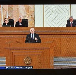 Аляксандр Лукашэнка выступае з пасланнем да беларускага народу і Нацыянальнага сходу