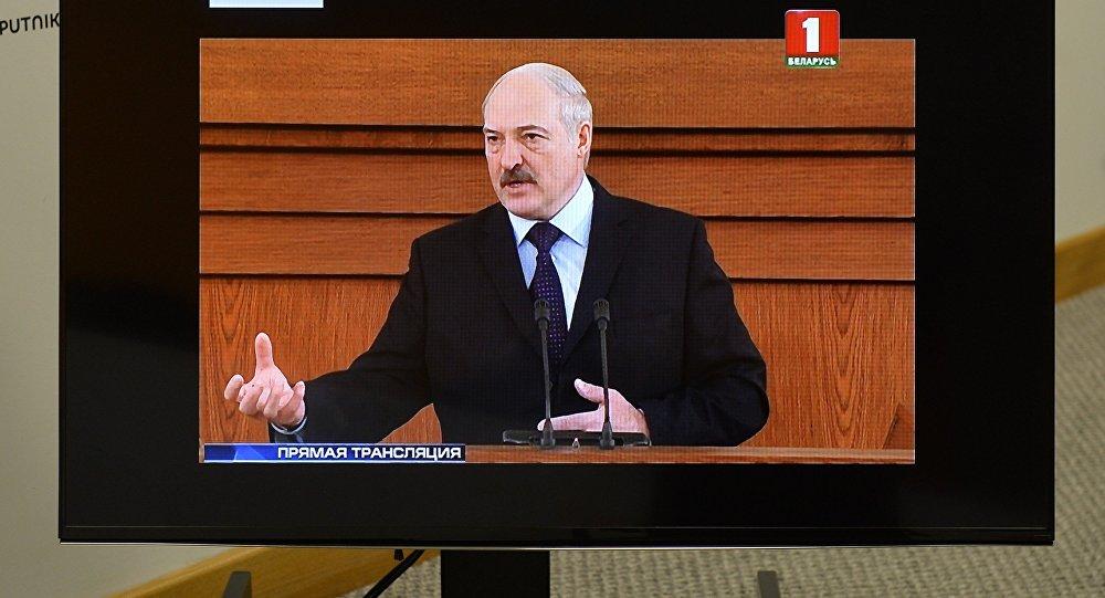 Александр Лукашенко выступает с посланием белорусскому народу и Национальному собранию