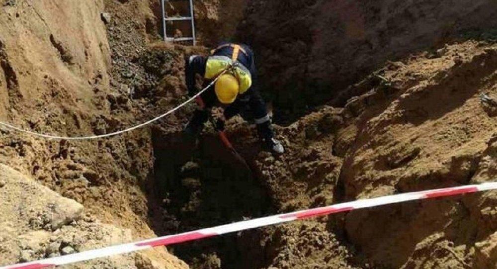 Ликвидация повреждения газопровода в Минске