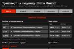 Инфографика Sputnik: транспорт на Радуницу-2017 в Минске