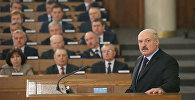 Аляксандр Лукашэнка выступае з пасланнем да Нацыянальнага сходу