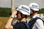 Наблюдатели СММ ОБСЕ в Донбассе, архивное фото