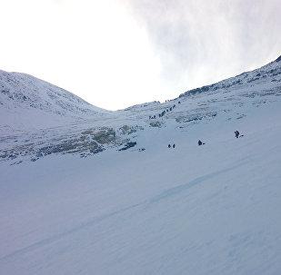 Альпинисты покоряют Эверест, архивное фото