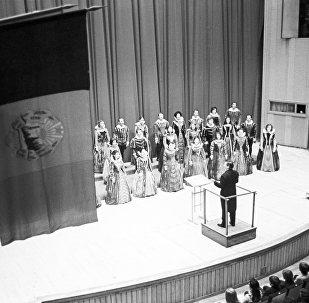 В зале Белорусской государственной филармонии, архивное фото 1974 года