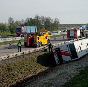 Автобус с белорусскими туристами попал в аварию в Польше