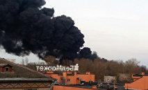 Пожар в Могилеве: сгорел склад покрышек