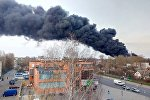 Пожар на складе шин в Могилеве