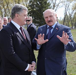 Президент Беларуси Александр Лукашенко в среду встречается в Чернобыле с украинским коллегой Петром Порошенко