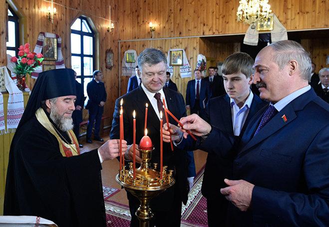 Порошенко иЛукашенко прибыли вБеларусь для проведения переговоров