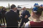 Видеофакт: Лукашенко прилетал в Чернобыль на вертолете