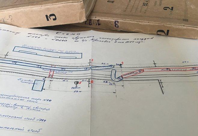 Схема крушения поездов