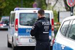 Полицейский в Берлине после стрельбы