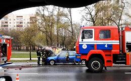 Легковой автомобиль горел утром в Минске
