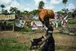 Деревня в Либерии, архивное фото