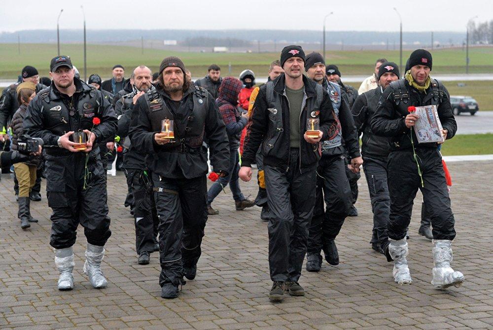 ВЧехии прошли акции протеста против «Ночных волков» из РФ