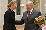 Президент Беларуси Александр Лукашенко и теннисистка Виктория Азаренко