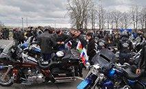 Виктор Лукашенко открыл мотосезон с белорусским и российским флагами