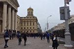 Митинг оппозиции проходит в центре Минска