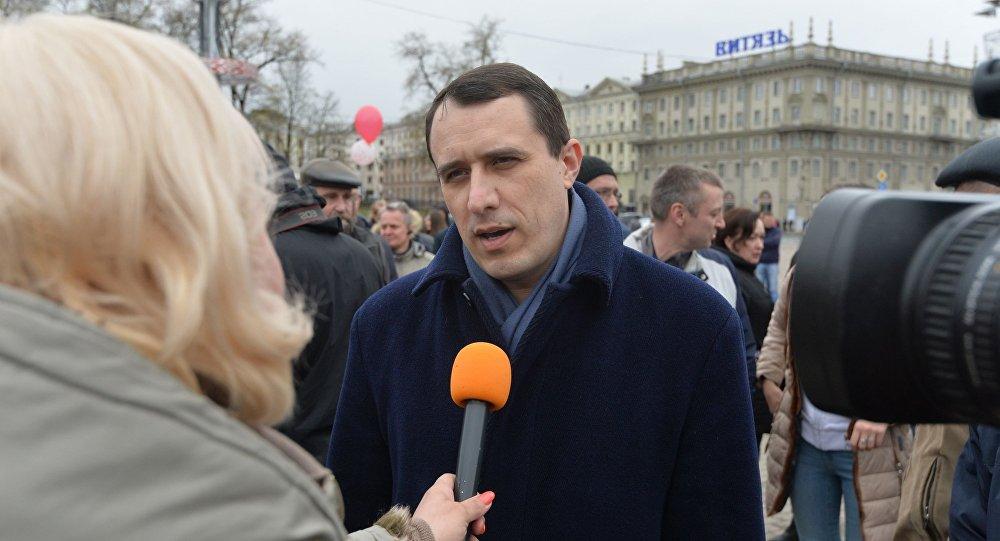Одного излидеров белорусской оппозиции задержали после акции вМинске