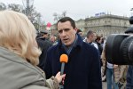 Павел Северинец на акции в Минске