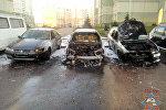 Пожар машине в Минске