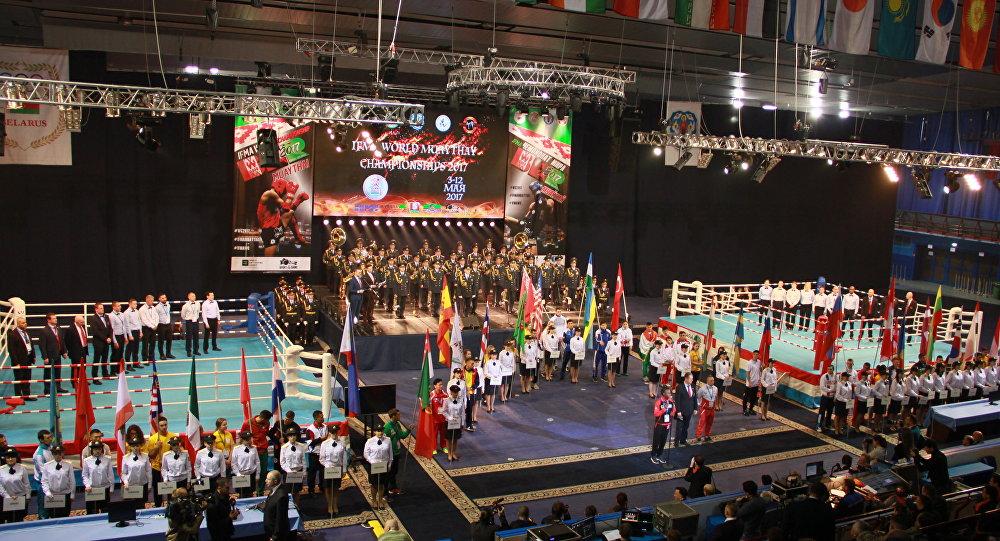 Церемония открытия ЧМ по муай-тай в Минске