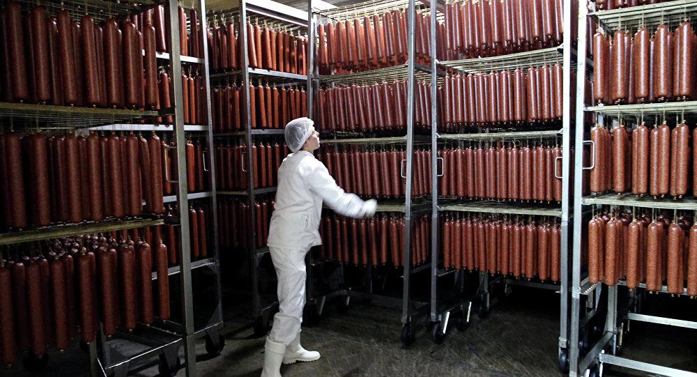 В сушильной камере мясоперерабатывающего завода