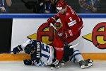Матч Беларусь - Финляндия на ЧМ по хоккею