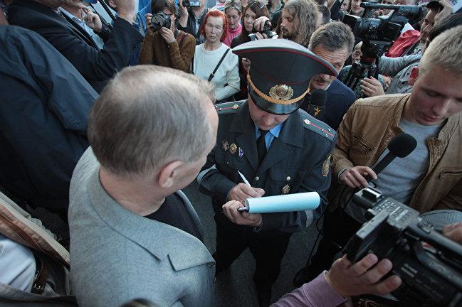 ВМинске ОМОН задержал оппозиционера Некляева за«Марш тунеядцев»