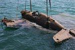 Подъем истребителя времен ВОВ со дна Керченского пролива