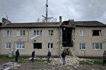 Дом в Калининградской области, пострадавший от взрыва