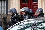 Протесты против результатов выборов в Париже