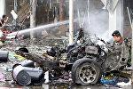 Место взрыва в Таиланде