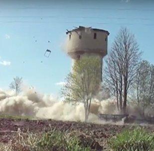 Воданапорную вежу знеслі ў Докшыцкім раёне