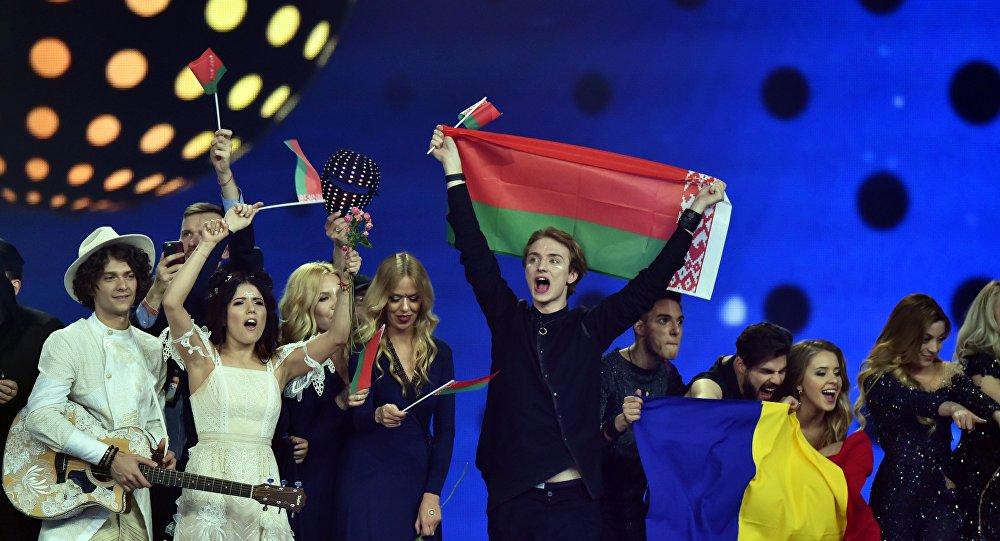 Артисты после объявления полуфиналистов Евровидения