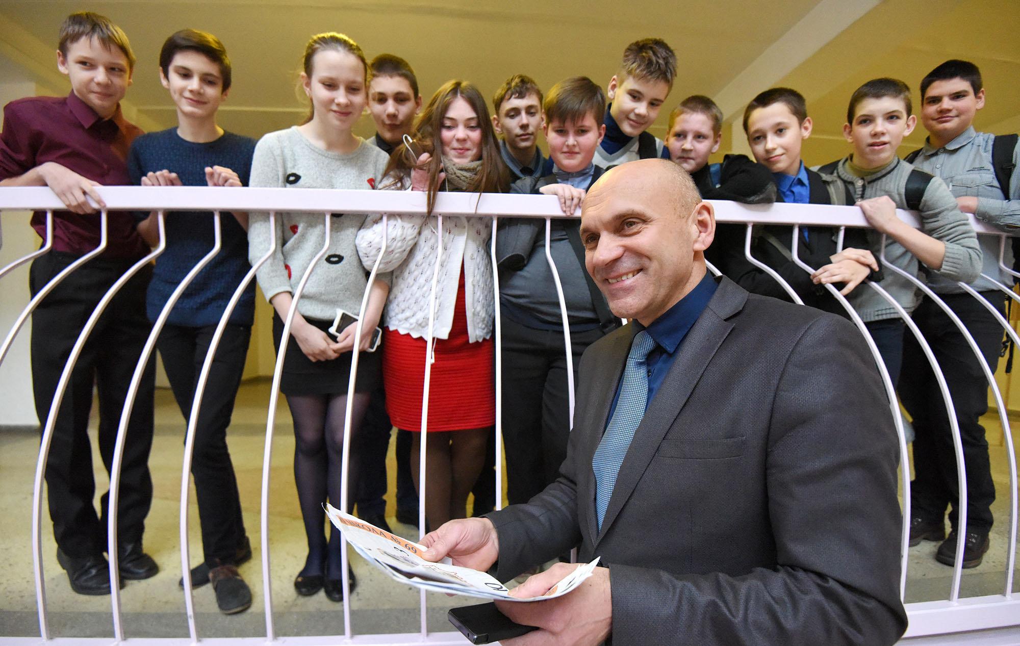 Александр Машкаров со своими учениками