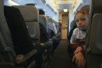 В салоне Боинга 737-300, архивное фото