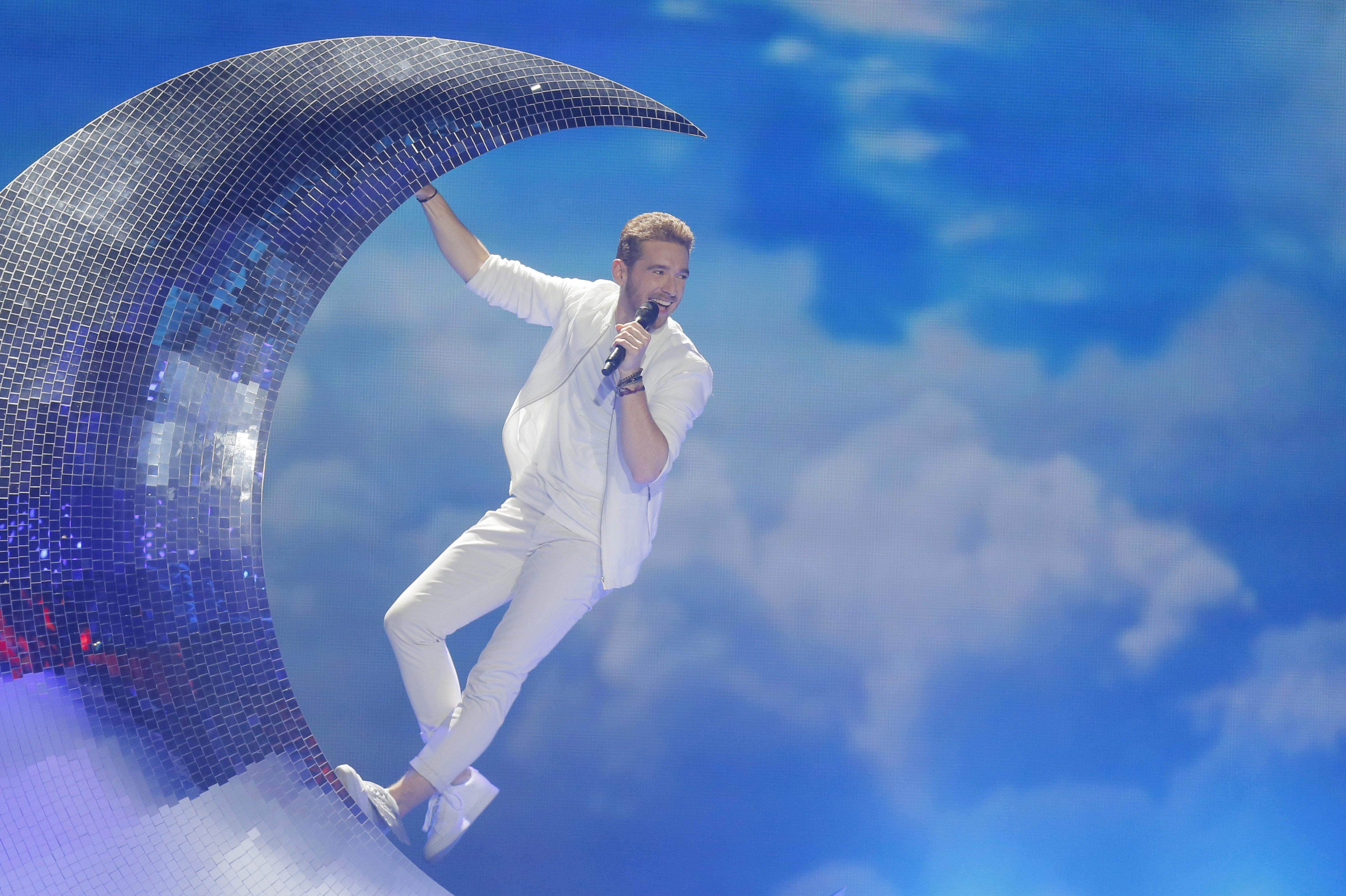 Натан Трент из Австрии в финале Евровидения