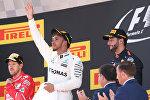 Тройка призеров Гран-при Испании - Хэмилтон, Феттель, Риккардо