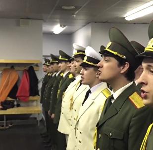 Хор рускай арміі павіншаваў Басту з днём нараджэння яго песняй