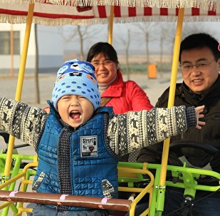 Китайская семья, архивное фото