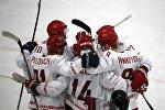 Хоккеисты сборной Беларуси на ЧМ