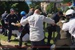 Видеофакт: охрана Эрдогана подралась с протестующими в Вашингтоне