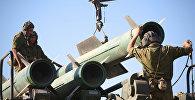 Учения войск ПВО на полигоне, архивное фото