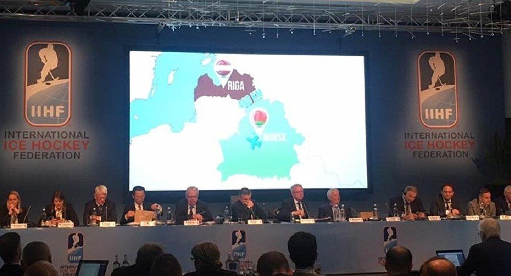 Презентация белорусско-латвийской заявки на проведение ЧМ по хоккею в 2021 году