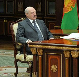 Встреча с председателем Федерации профсоюзов Беларуси Михаилом Ордой 19 мая 2017 года